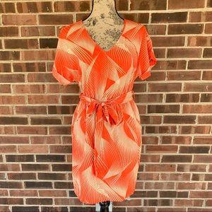 Dresses & Skirts - Orange Dress with belt & pockets